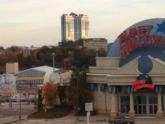 Skyline Hotel & Waterpark: View of Seneca Casino from room
