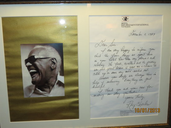 Hotel Saturnia & International : Ray Charles was a visitor here!