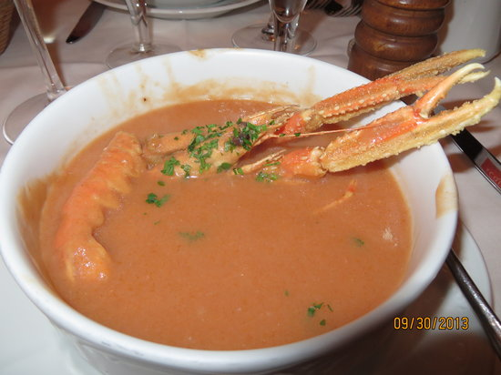 "Ristorante Da Raffaele : Soup with ""difficult"" shell"