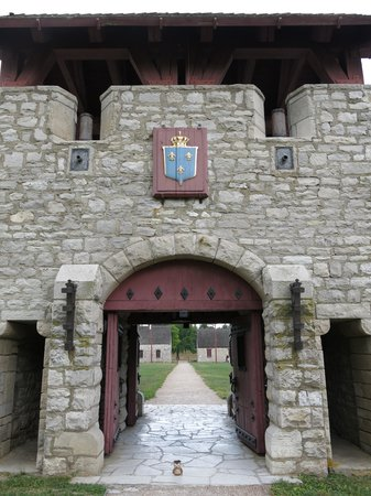 Prairie du Rocher, IL: Entrance of the fort.
