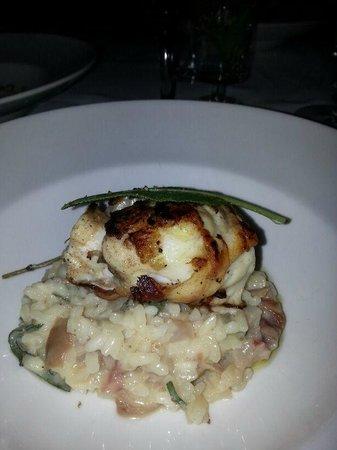 La Poudette: Sea bass with risotto