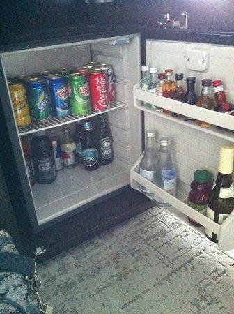 Hotel 10 : Mini-bar très bien garni.