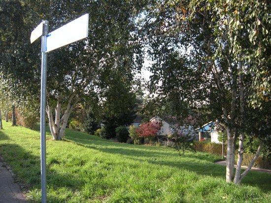 Rundfahrt im Oldtimertram: 丘陵地にある駅周辺の景色