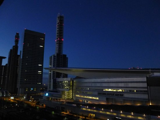 Toyoko Inn Saitamashintoshin: View from the 12th floor. The building on the right is Super Saitama Arena