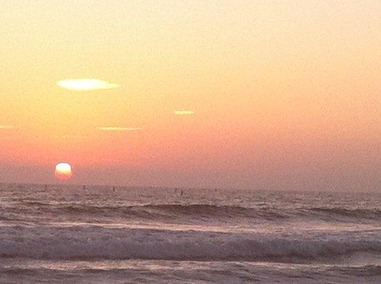 Shutters on the Beach: Sunset in September