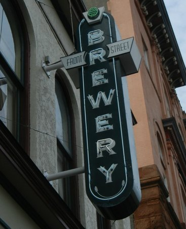Front Street Brewery's art deco neon sign