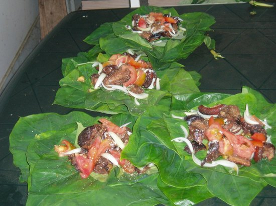 Traditional Tongan Sunday Dish Lu Pulu Picture Of Popua Bed