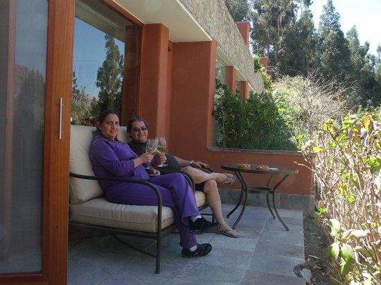 Belmond Hotel Rio Sagrado: En la terraza de nuestra habitación
