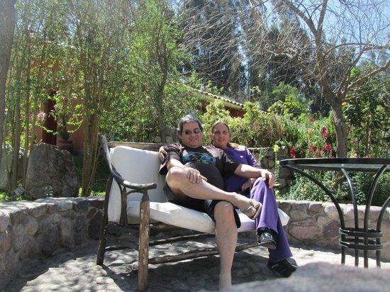 Belmond Hotel Rio Sagrado: En otra terrazita del hotel