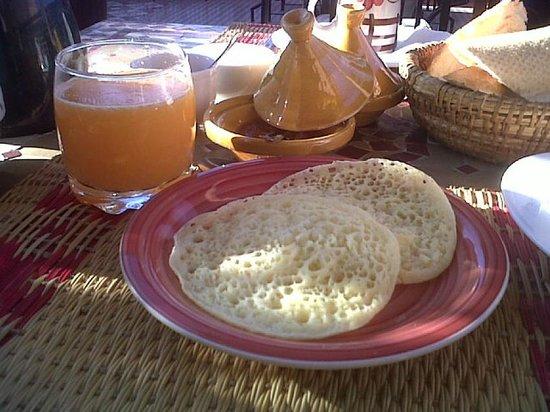 Riad Andalla: petit déjeuner.