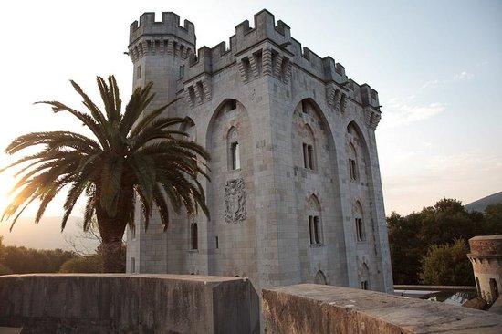 Castillo de Arteaga: Sunset view from our sun deck