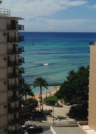 Waikiki Resort Hotel: Partial Room View - Room 1217