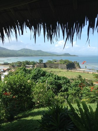 Casa Rosa Taytay: This is the view you get of Fort Isabela from Casa Rosa's dining area.