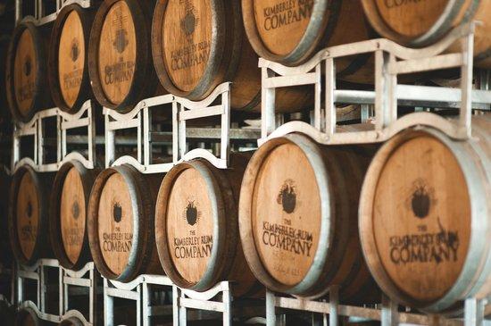 Great Northern Distillery: Aged Rum in Barrels