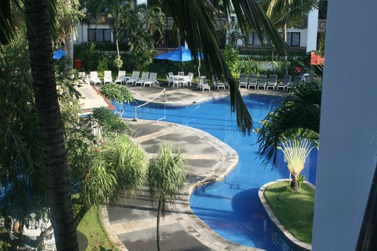 Sanur Paradise Plaza Suites: View from our balcony