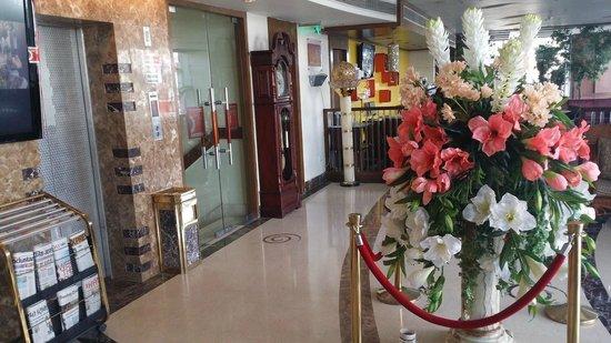 HK Clarks Inn : Lift and lobby