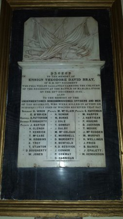 St. George's Cathedral: Commeration to Battle of Maharajpoor 29th December 1843