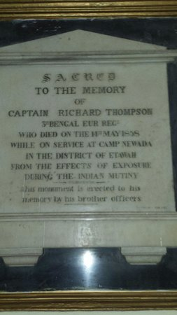 St. George's Cathedral: Commeration to Captain Thompson