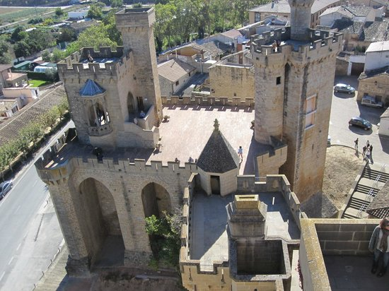 Palacio Real de Olite: Olite Castle. View of part of it from one of the turrets