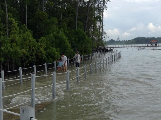 Pontian District, Malaysia: Crossing the bridge to southernmost tip of mainland in Asia