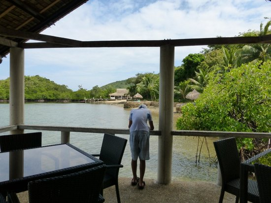 Chindonan Dive Resort: My favorite part of the resort - the Dining area sits atop the water for easy viewing of marine