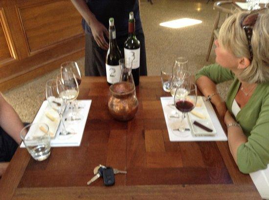 Spier Wine Farm: 3 x Spier wine with chocolate