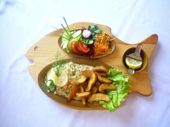 "Pilsbergu krogs: Example of the fish dish - ""Strayed flounder"""
