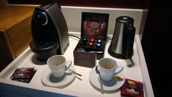 Pullman Eindhoven Cocagne: Complimentary coffee and tea