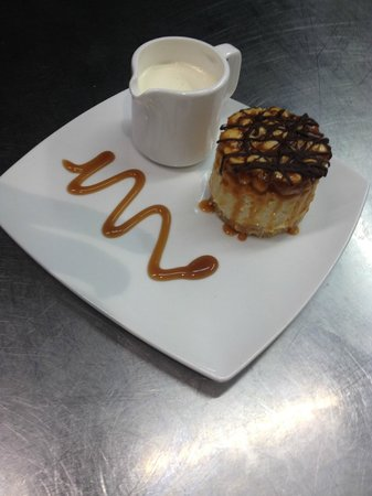 Nick's Diner: One of our speciality home-made cheesecakes - caramel and nut
