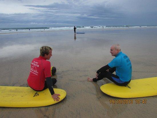 Fistral Beach Surf School: tutorial before we begin excellent teacher