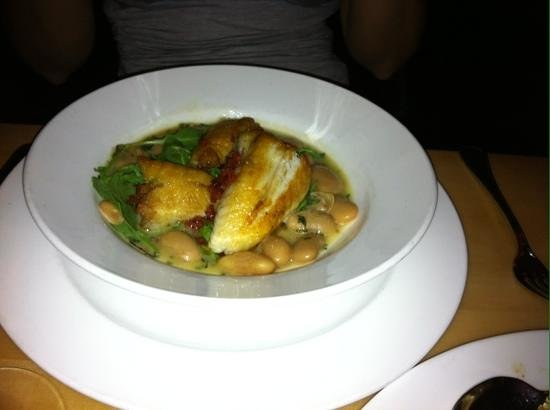 Market Table: monkfish with butterbeans.