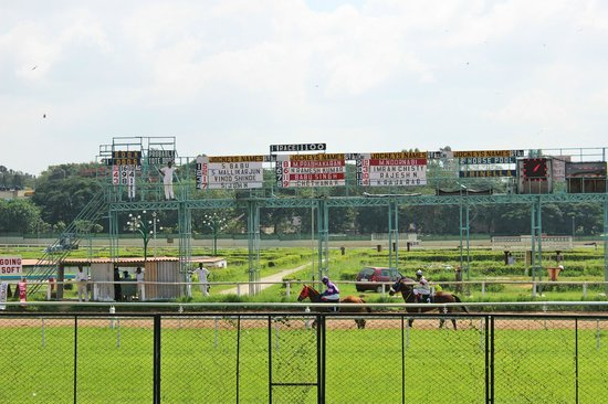 Bangalore Turf Club Race Course: Jockey names on the board