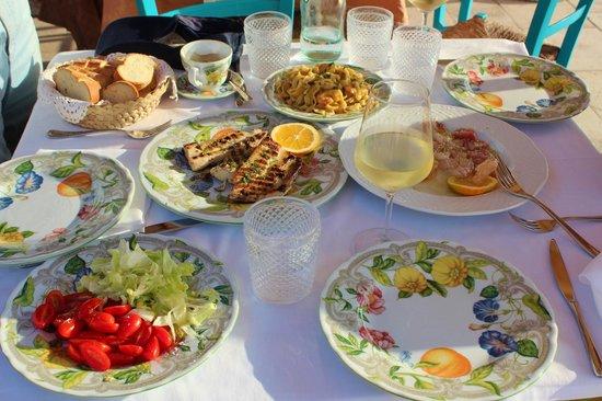 Taverna la Cialoma: our lunch
