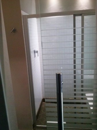 The Aviator Hotel OR Tambo: bagno con porte trasparenti