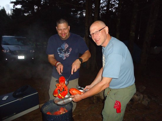 Bass Harbor Campground : LobsterFest at our Campsite