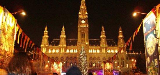 Rathausplatz: Час до Нового года