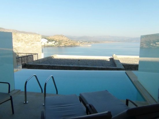 Lindos Blu : View from balcony across Lindos Bay