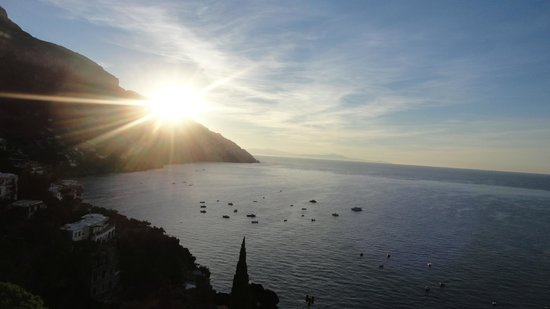 Pensione Maria Luisa - Amalfi Coast : Sun rising from our terrace view room! GORGEOUS!!!