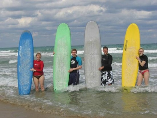 Ezride Surf School Family Lessons In Miami Beach Florida