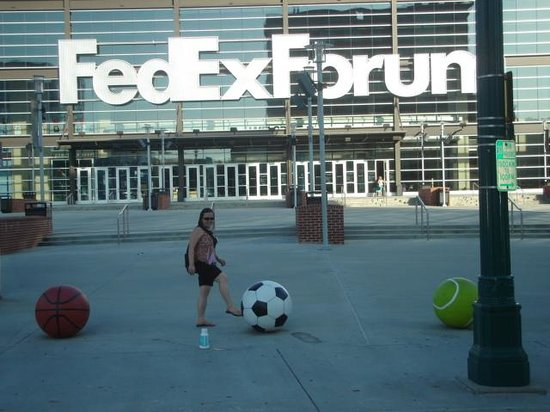 FedExForum: in front of Fedex.
