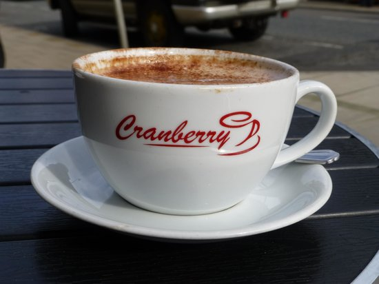 Cranberry: Wonderful hot chocolate