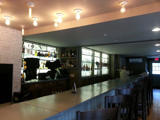 Barrows House : The new bar worth back lit marble