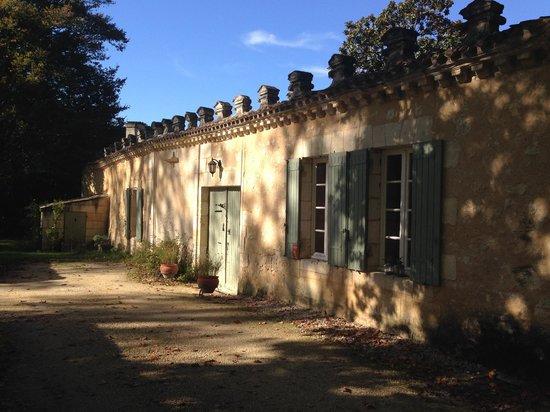 Le prieure de mouquet: The front door.