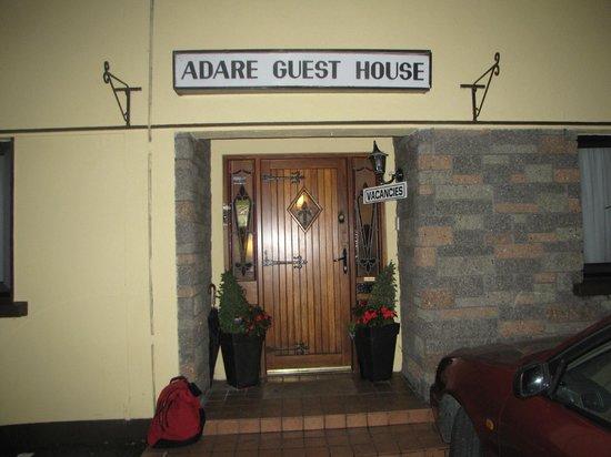 Adare Guesthouse: the front door