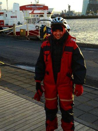 Reykjavik Bike Tours : I look silly but it was warm!!