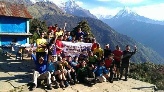 Trekking Team Pvt. Ltd. - Day Tours: Our Big Group at Tadapani