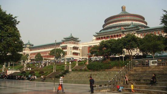 Chongqing People's Square: Nice place for grand child