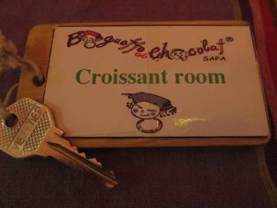 Baguette & Chocolat: Nice way to name to room.
