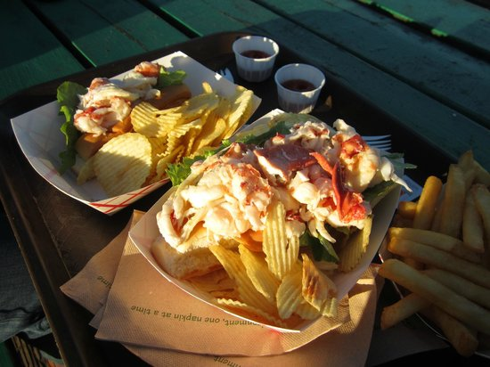 standard lobster roll and the big boy lobster roll picture of