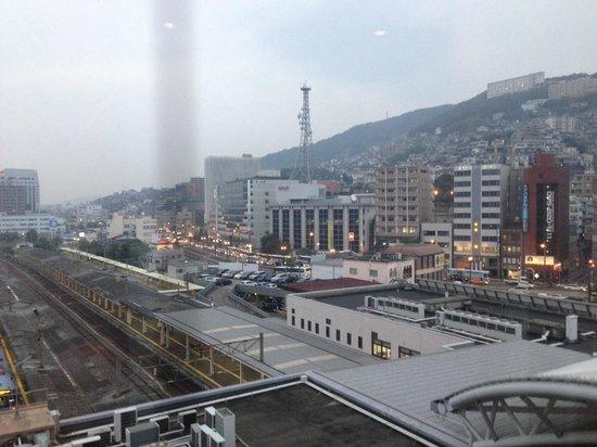 JR Kyushu Hotel Nagasaki: View from the lift